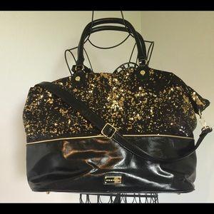 Gorgeous Steve Madden sequined travel bag